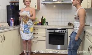Stunning Nikki Waine tries give impress boyfriend cooking special pancakes