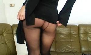 Bibi Vixen likes nylons added to unscrupulous pantyhose sex-toy masturbation