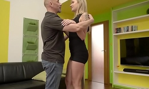 DADDY4K. Bonny bird nicely fucked on settee wide venerable and young video