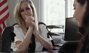 MILF Teacher Brandi Exalt Licked by Lez Student in Place