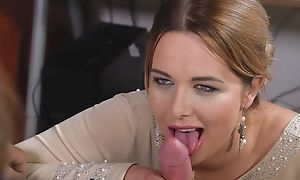 Cute MILF Nikky Dream does magic blowjob until nice cumshot