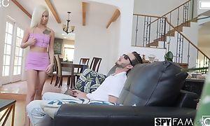 Nice Blonde secretary hardcore fucking, doggy germane to sex and creampie