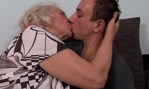 Alluring gilf screwed by her young follower groupie