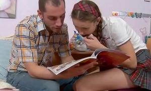 Brother teaches stepsister sexual geography!