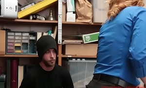 Security Officer Krissy Lynn Feels For His Package