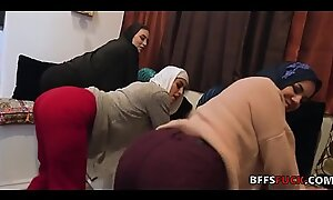 Muslim babes in HIJAB charge from a knavish guy