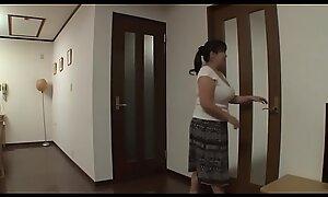 Japanese old woman fucks son