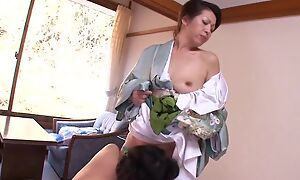 Two horny Asian MILFs playing nancy games upon bed